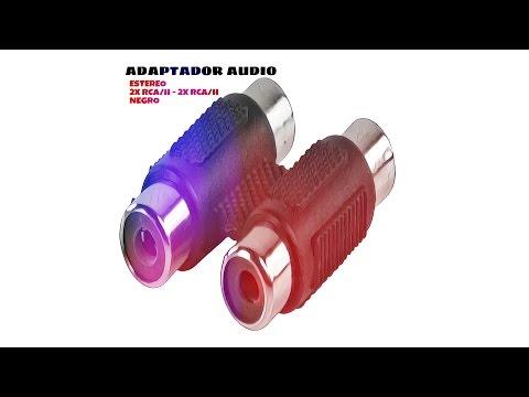 Video de Adaptador audio estereo 2xRCA/H-2xRCA/H  Negro