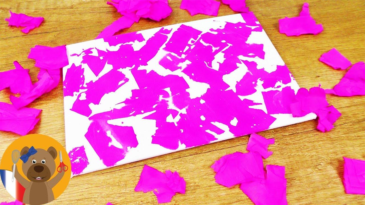 Papier Crépon Expérience Sur Une Pancarte Super Déco Très Simple à Faire Soi Même Diy