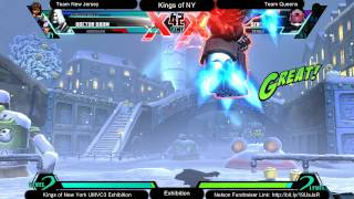 UMVC3 LOSERS FINALS @ Kings of NY - Team New Jersey vs Team Queens