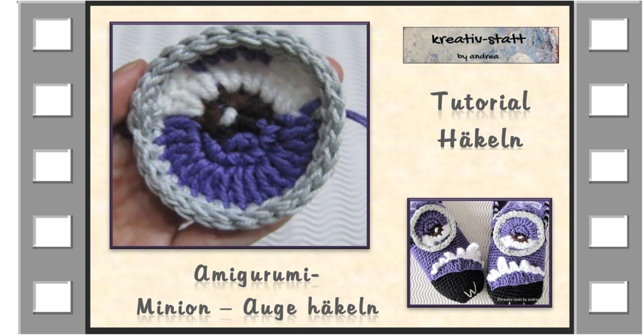 Häkeln Amigurumi Minion Auge Crochet Amigurumi Minion Eye