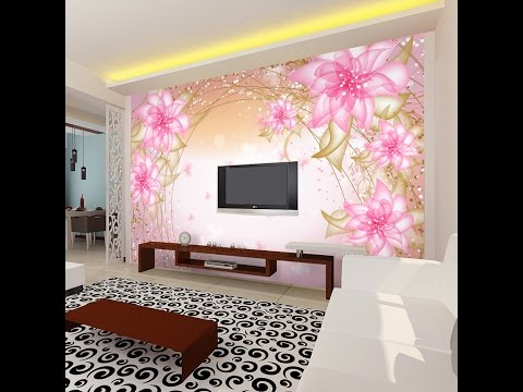 3d Wallpaper Hd For Living Room In India 3d Wallpaper For Wall As Royal Decor Youtube