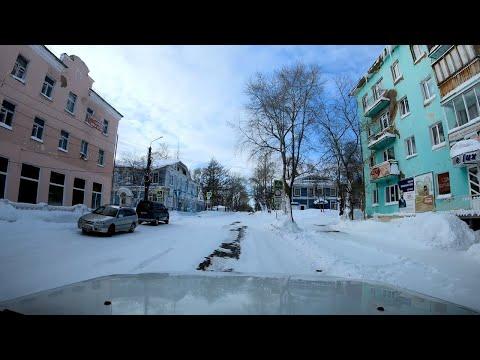 По главной улице города. Николаевск-на-Амуре. Зима 2020