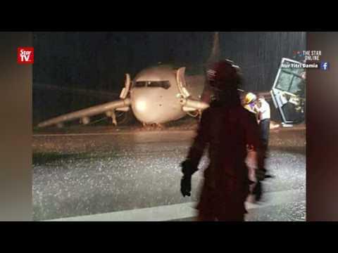 Passengers stranded at Sibu Airport after plane skidding incident