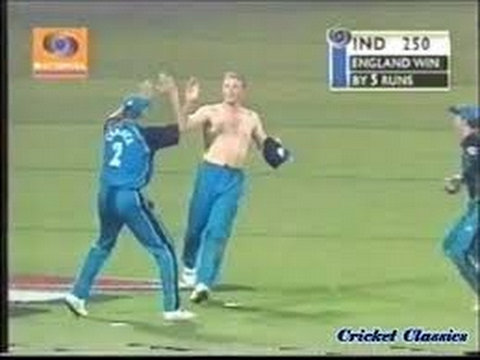 Andrew Flintoff Shirt Off vs India 2002 Mumbai   One of India's Most Heartbreaking Cricket Moments