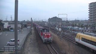 【DD51定期運用から引退】DD51形機関車牽引コンテナ列車(関西本線朝明信号場) Form DD51 Diesel Locomotive Towing Freight Train