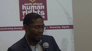 SAHRC CEO Tseliso Thipanyane recapping discussions and mapping a way forward