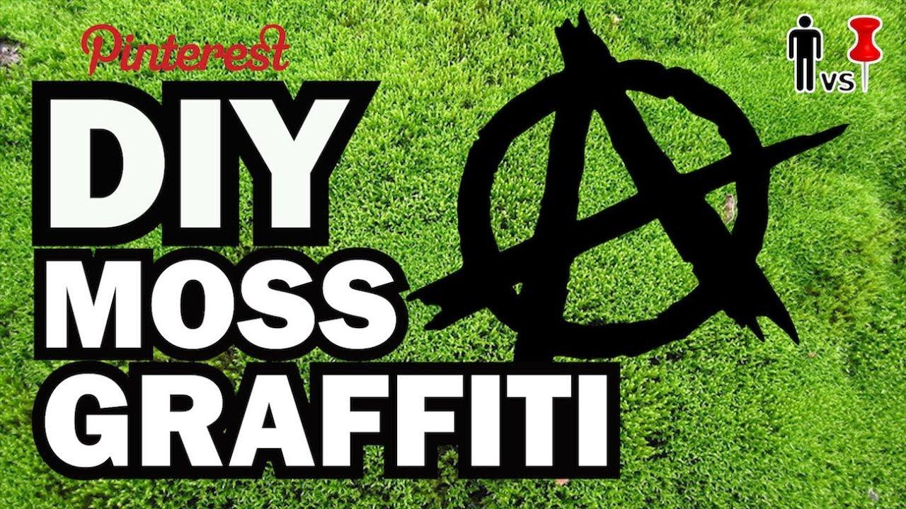 DIY Moss Graffiti - Man Vs. Pin #24 - YouTube