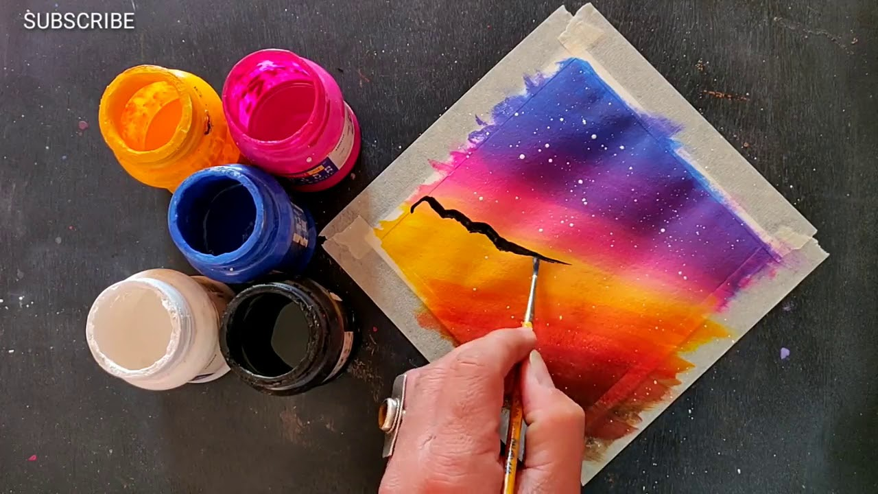 Easy Canvas Painting Ideas For Beginners Step By Acrylic 292 Youtube