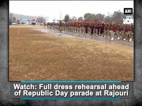 Watch: Full dress rehearsal ahead of Republic Day parade at Rajouri - ANI #News