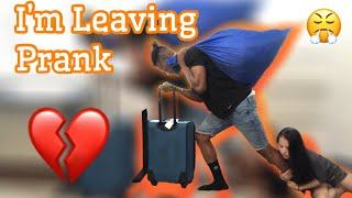 I'M MOVING OUT PRANK ON WIFE - EPIC REACTION !!!