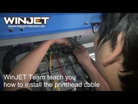 WinJET W8-512i-30PL solvent printer- printhead cable installation