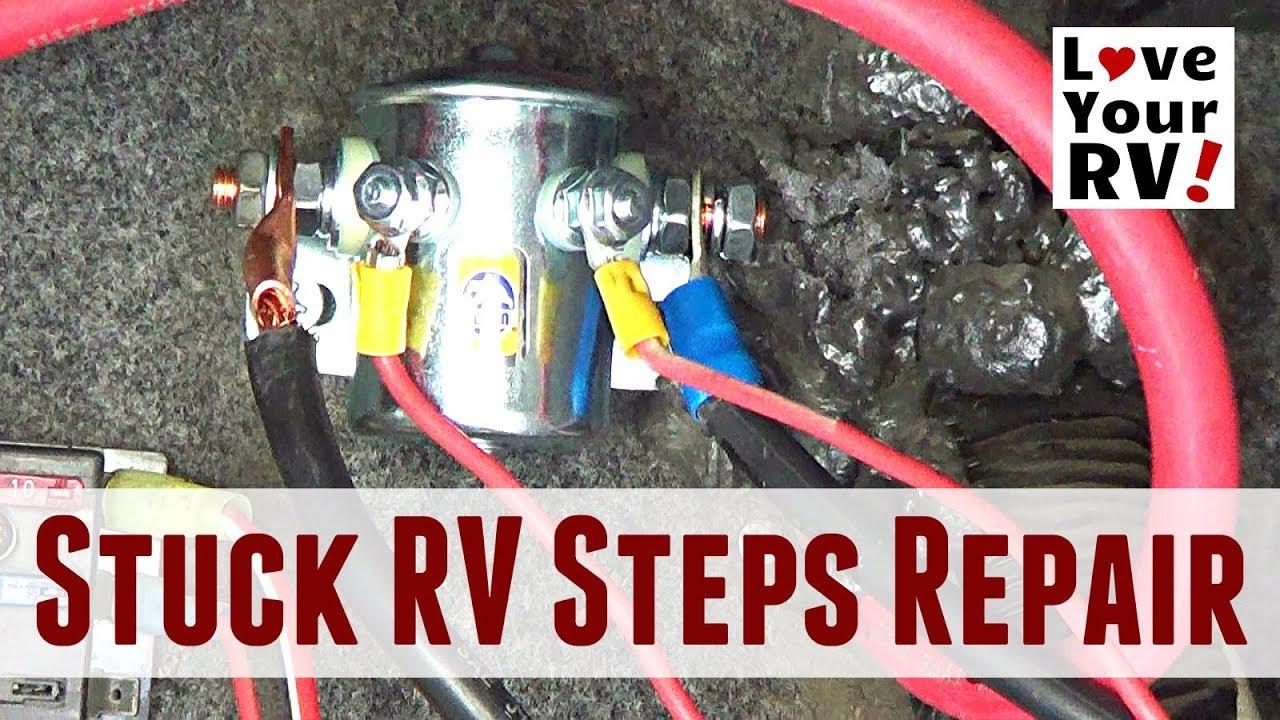 repairing stuck motorhome steps kwikee steps travel supreme rv  [ 1280 x 720 Pixel ]