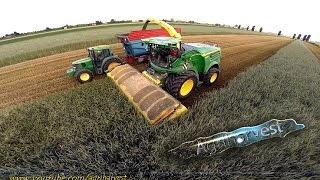 NEW JOHN DEERE 8600i at work with Zurn Profi Cut | Silage 2015| -GoPro- [FULL HD]