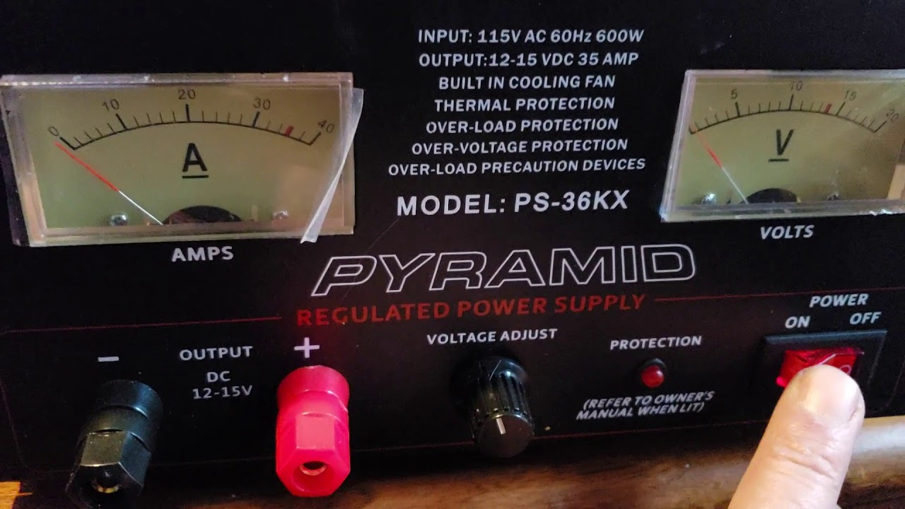 Pyramid PS36KX 32-Amp Power Supply with Built-in Cooling Fan
