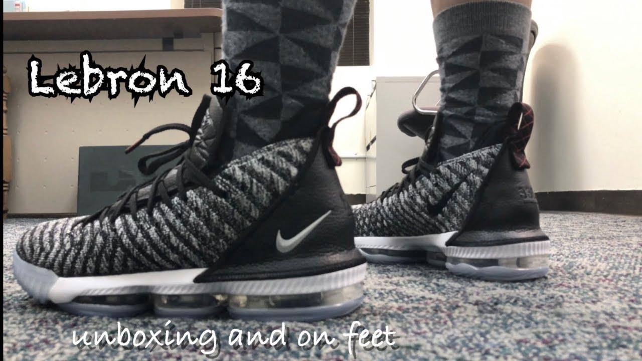 Nike Lebron 16 Oreo | Unboxing and On feet