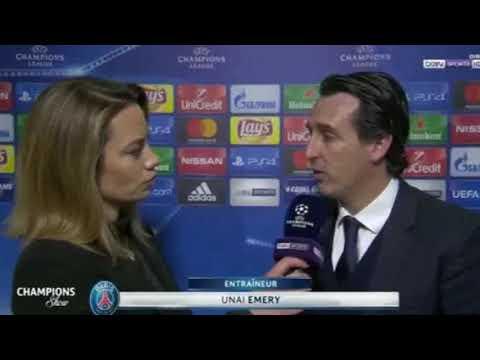 Unai Emery après  le match Bayern vs PSG 3-1