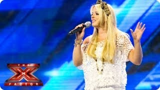 Crissie Rhodes sings at the Arena -- Arena Auditions Week 4 -- The X Factor 2013