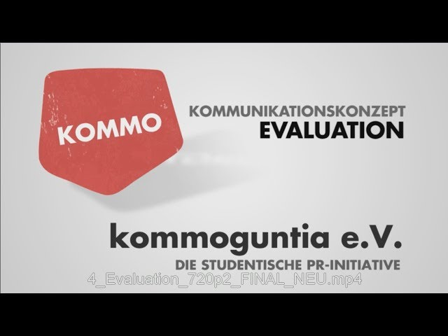 Kommunikationskonzept - Teil 4 - Evaluation