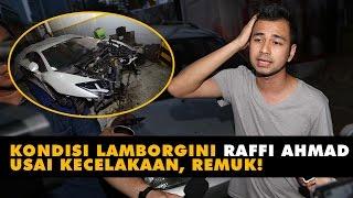 Kondisi Mobil Lamborghini Raffi Ahmad Usai Kecelakaan