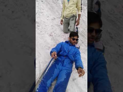Manali trip snow sliding...