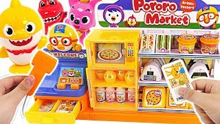 Welcome to Pororo Convenience Store! Baby shark , Pororo! Mart & Calculation toy! #PinkyPopTOY