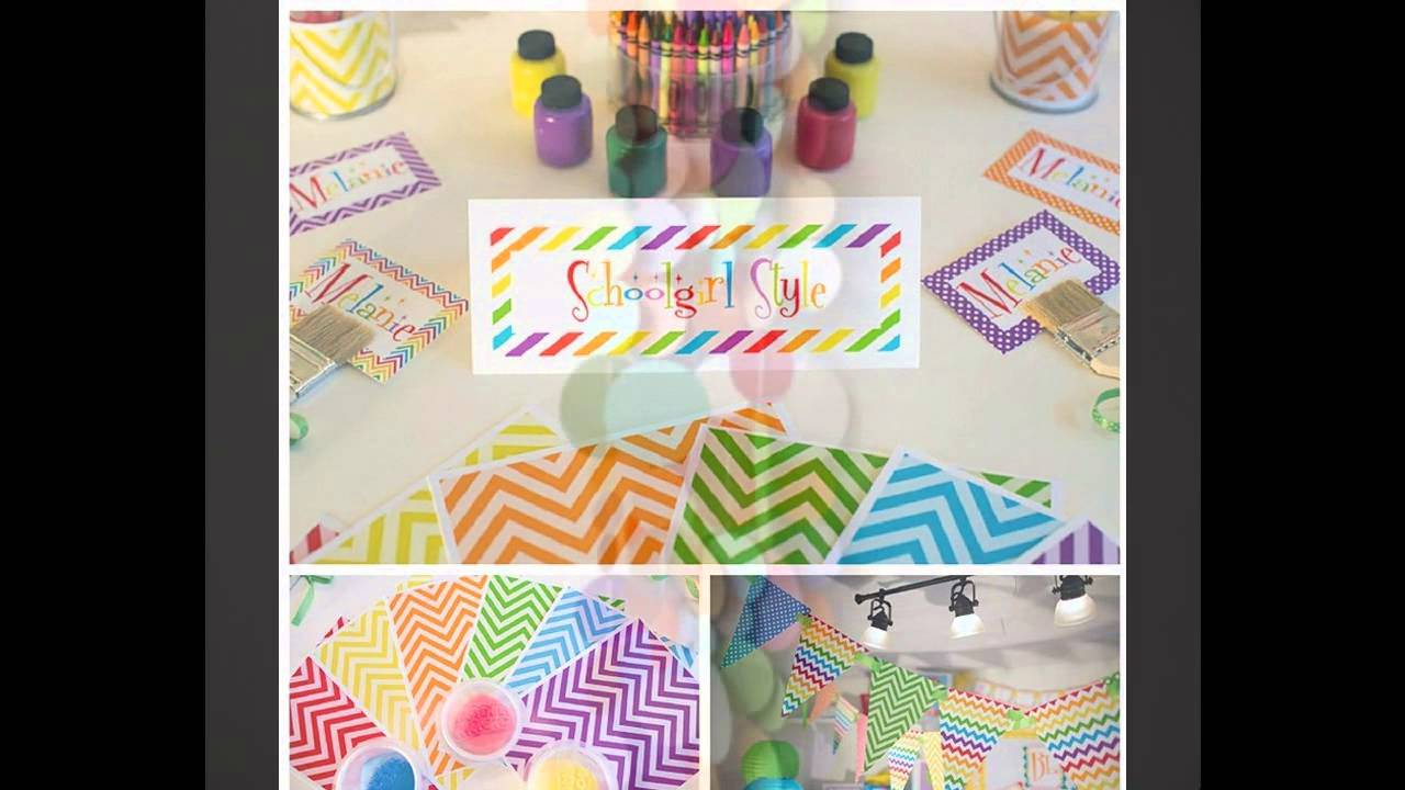 Cool diy classroom decorating ideas youtube for Art decoration for classroom