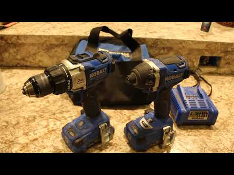 Kobalt 24 volt Brushless Drill and Impact driver are they worth your money?!!