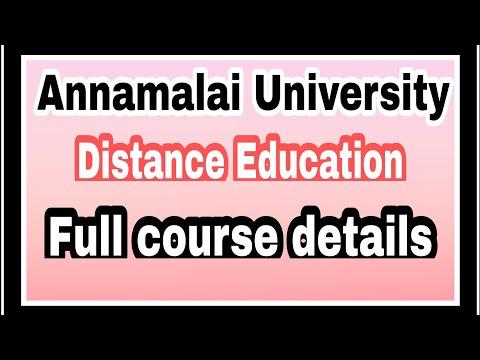 Annamalai University Distance Education Course Details