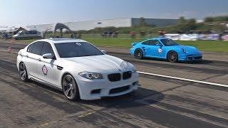 720HP BMW M5 F10 w/ Akrapovic Exhaust - Donuts, Revs & Drag Racing!