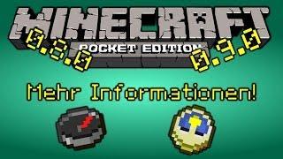 UPDATE Minecraft PE 0.8.0 / 0.9.0 Uhr! Kompass! Data Cacheheatmap!? Neue Infos! [Deutsch/FullHD]