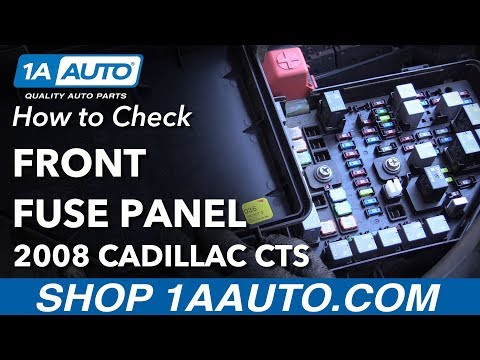 How to Replace Front Fuses 08-14 Cadillac CTS