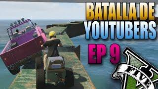 GTA V Online - La Curva de la Muerte!! - Batalla de YouTubers #9 - Funny Moments - Carreras GTA 5