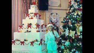 Гигантский новогодний торт