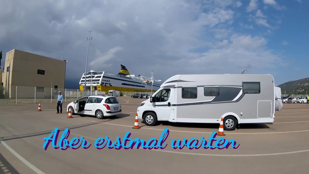 Mit dem Wohnmobil auf die Fähre🚢 in Porto Veccio Korsika nach Porto Torres  Sardinien.
