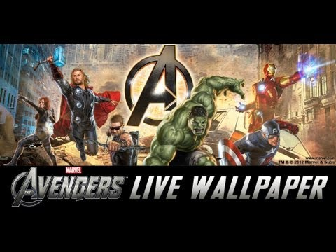 The Avengers Live Wallpaper W Clocks Youtube