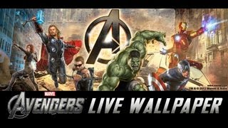 The Avengers Live Wallpaper w/Clocks