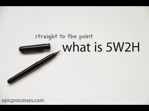 straight to the point: what is 5W2H