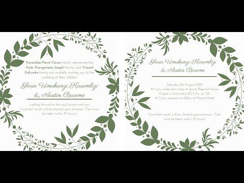 🔴  Join us Live as we celebrate our Wedding union.- Austin & Gloria / 21.08.2021