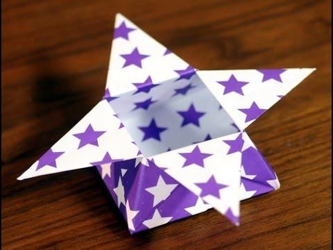 Como hacer una caja de estrella en origami hogar tv por - Origami de una estrella ...