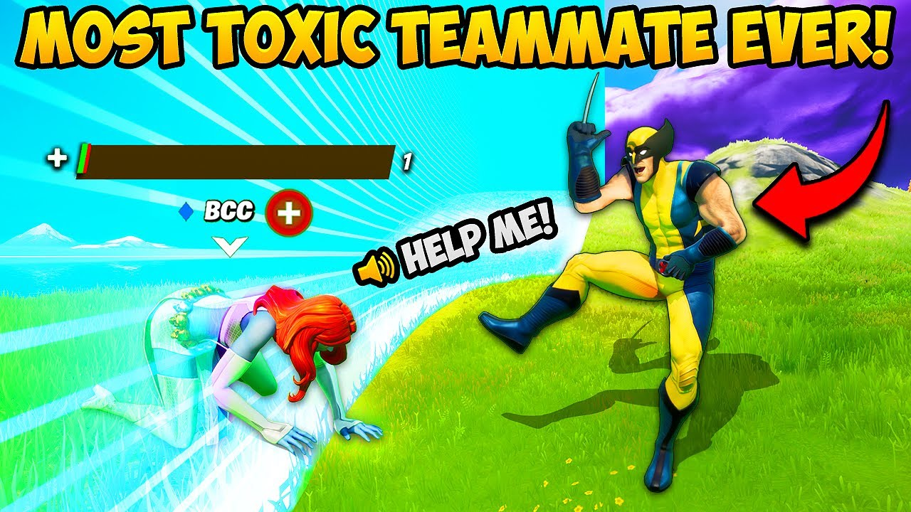 WORLD'S MOST *TOXIC* TEAMMATE!! - Fortnite Funny Fails and WTF Moments! #1057