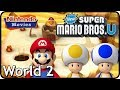 watch he video of New Super Mario Bros. U: World 2 Layer Cake Desert (All Star Coins 100% Multiplayer Walkthrough)