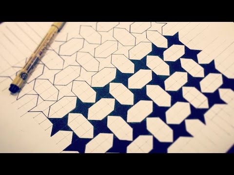 Simple Pattern - Stars & Diamonds (How To Draw) Narrated)