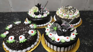 BLack forest cakes making 4 Black forest cake fancy cake by New Cake wala