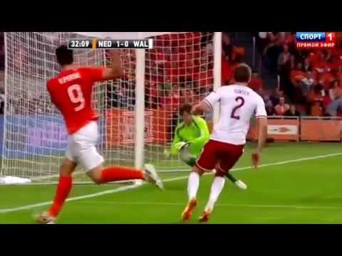 Netherlands 2-0 Wales All Goals & Highlights 04/06/14