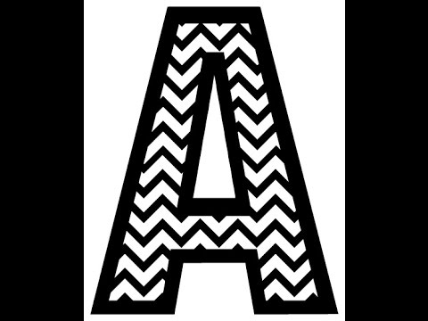 Filling a shape or letter with a chevron pattern youtube for How to make a chevron template