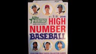 2018 Heritage High Number Baseball Hangar Box Breaks