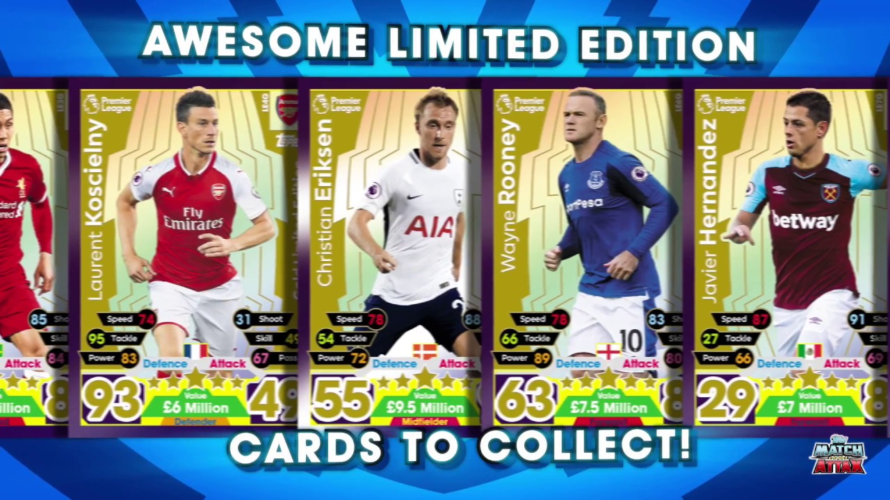 79544a6eadc 100 CLUB REVEALED - PREMIER LEAGUE MATCH ATTAX 2017/18 - YouTube