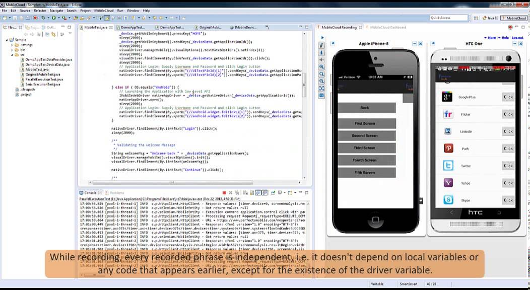 Perfecto Mobile MobileCloud WebDriver - YouTube