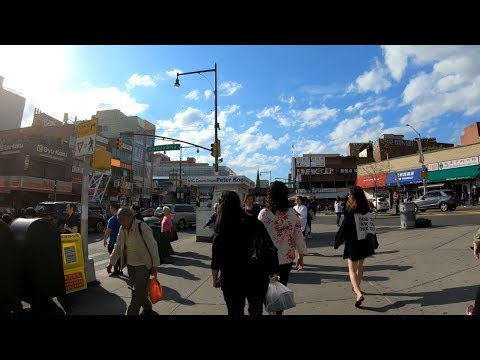 ⁴ᴷ Walking Tour Of Main Street, Queens, NYC From Briarwood To Flushing [法拉盛]