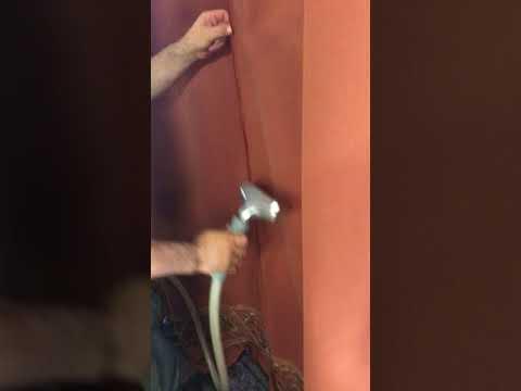 Steaming Velvet Curtains (Back)